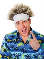Funny Fancy Dress Golf Hat With Funky Hair
